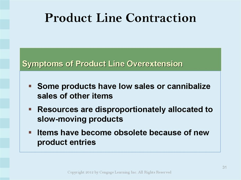 Product Line Contraction