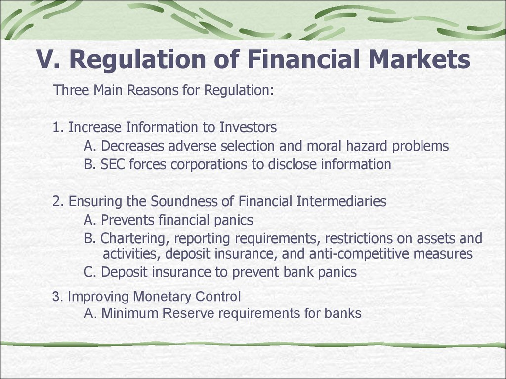 financial markets and return essay Financial markets, specific financial market instruments, behavior in order to enable them to understand the financial markets processes and their factors, and to make successfully financial decisions on the individual as well as company level.
