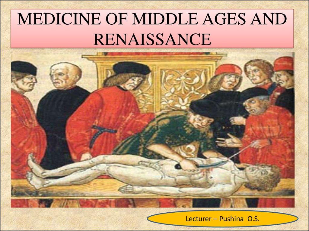renaissance and middle ages