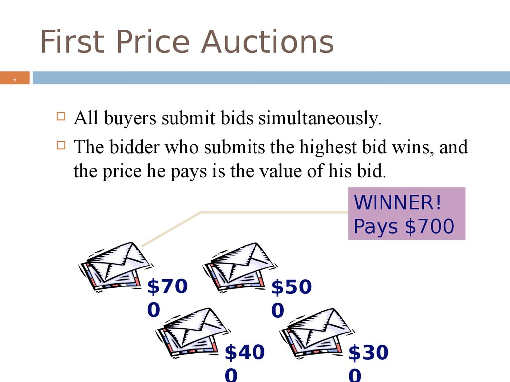 First Price Auctions