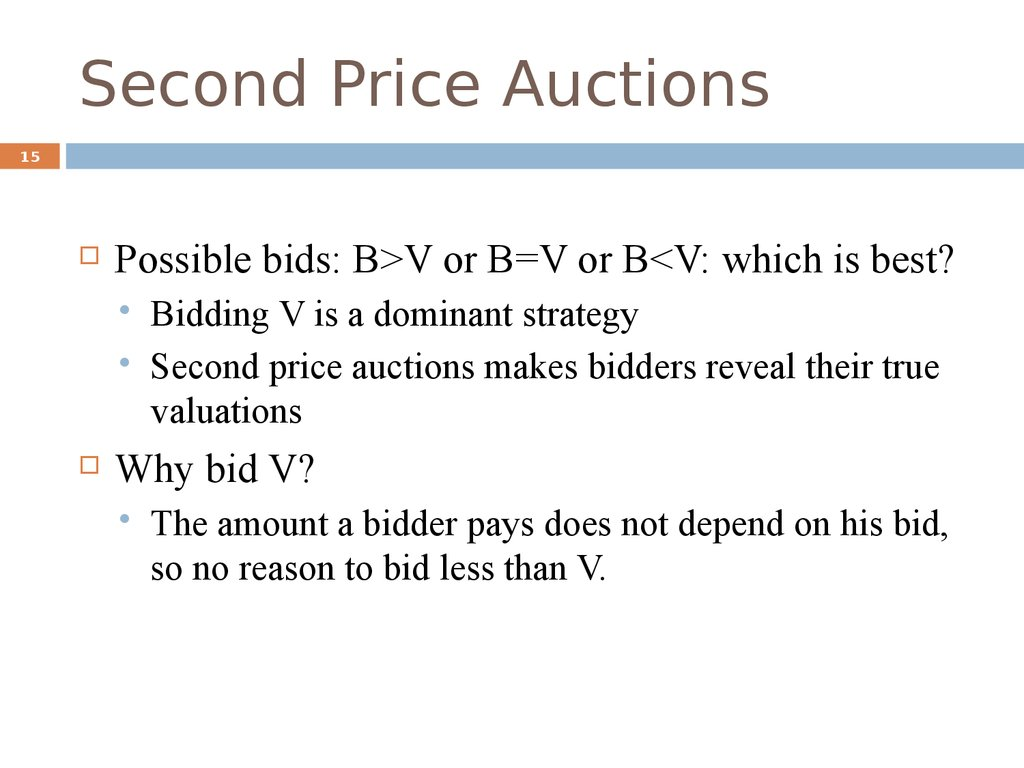 Second Price Auctions