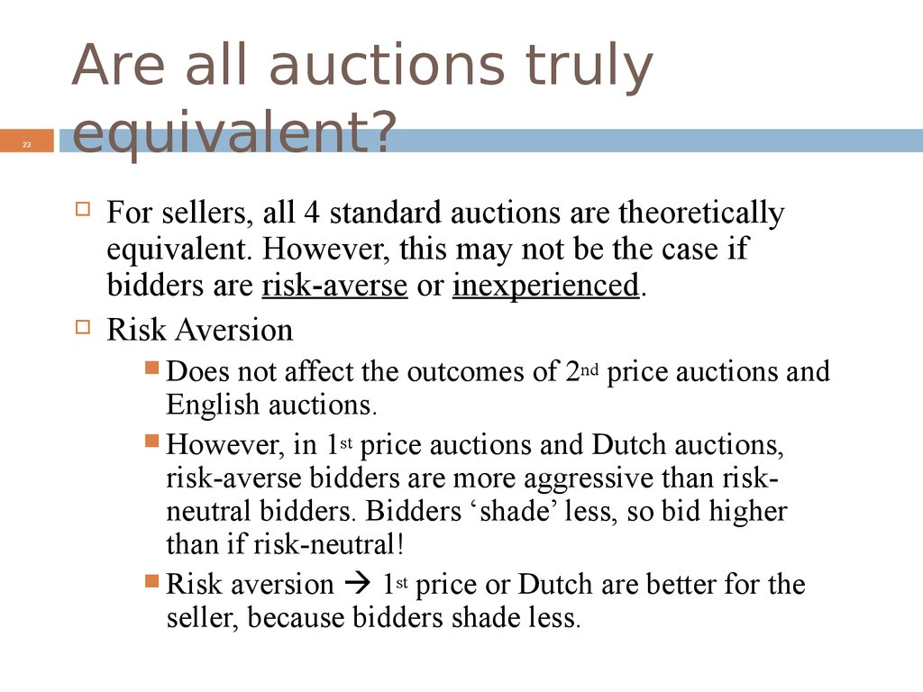 Are all auctions truly equivalent?