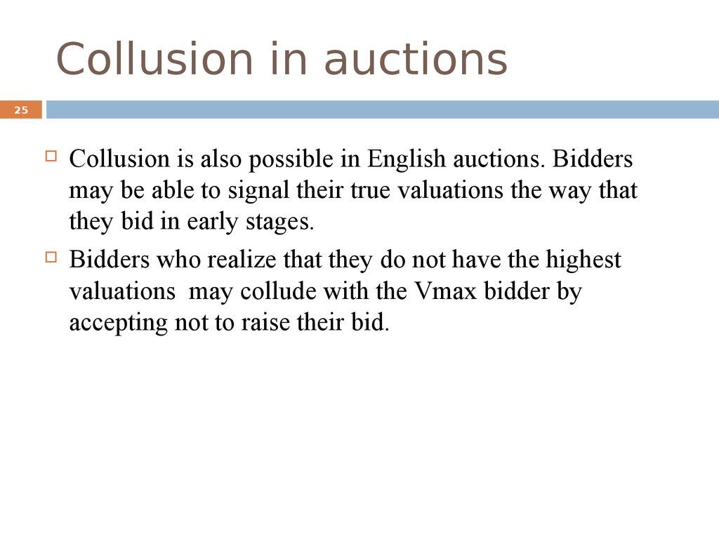 Collusion in auctions