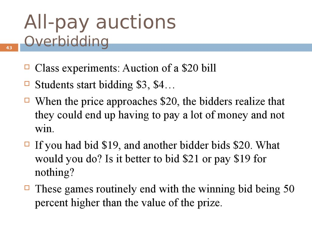 All-pay auctions Overbidding