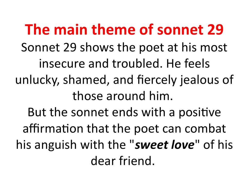 theme of love in sonnets 18