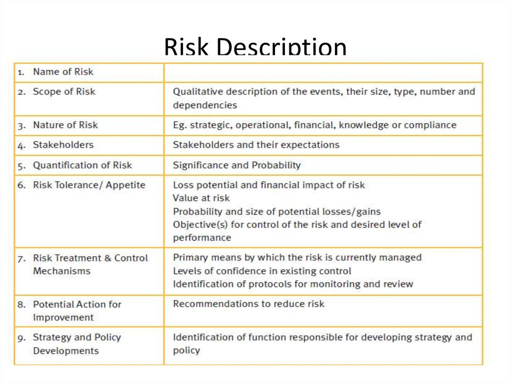 Risk Description