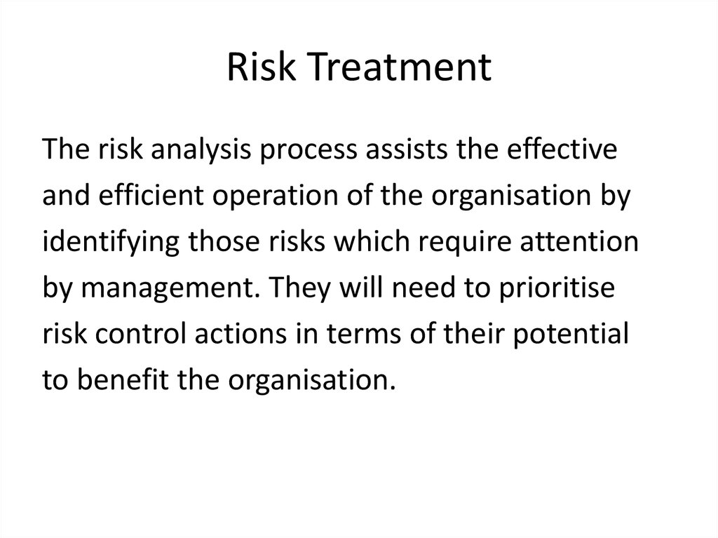 Risk Treatment