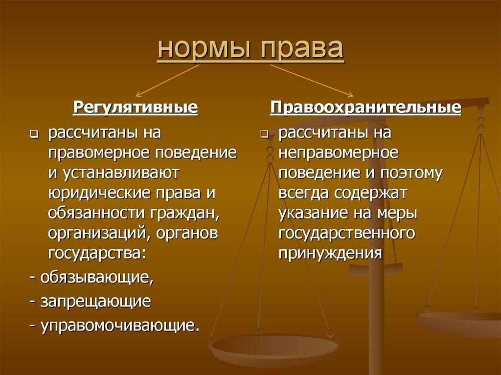 нормы законодательства