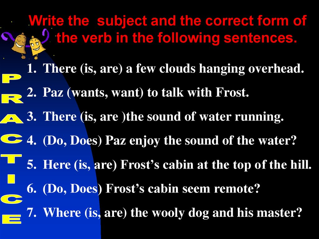 Making Subjects And Verbs Agree