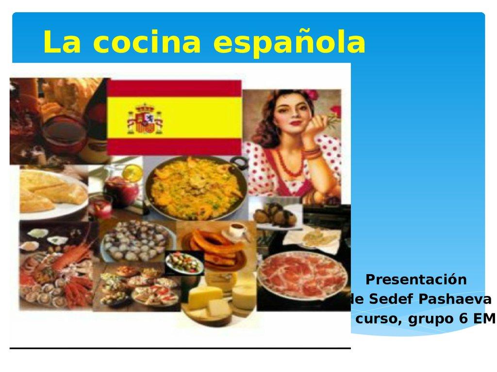 La cocina española - online presentation