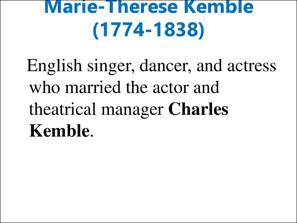 Marie-Therese Kemble (1774-1838)