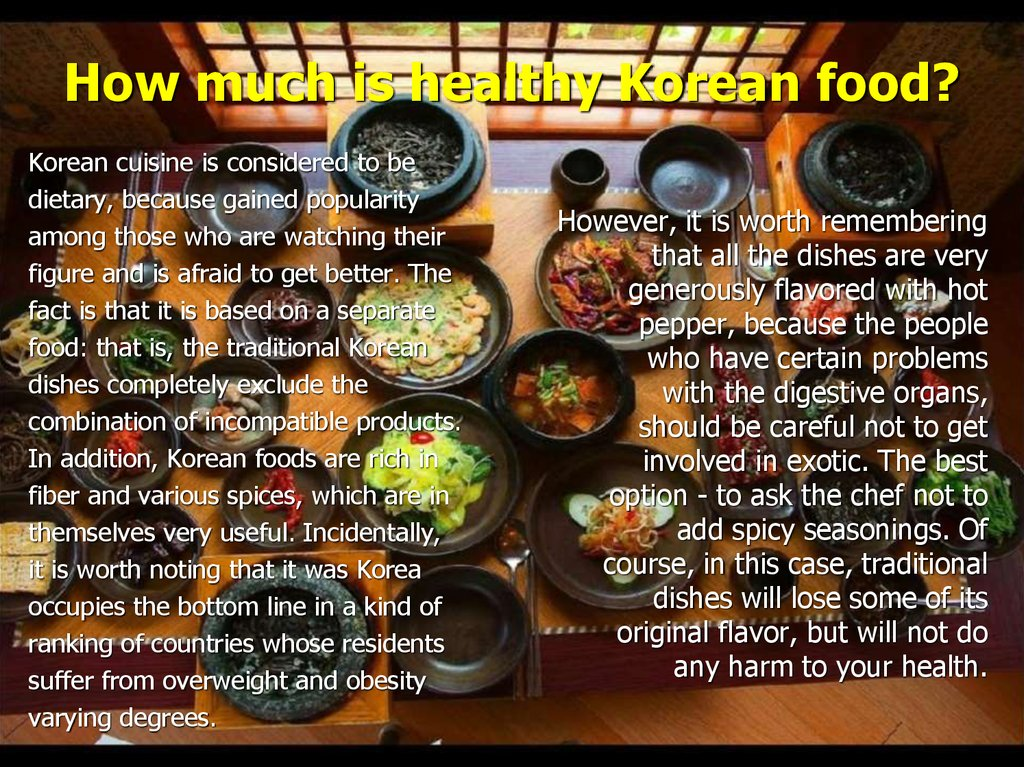 How much is healthy Korean food?