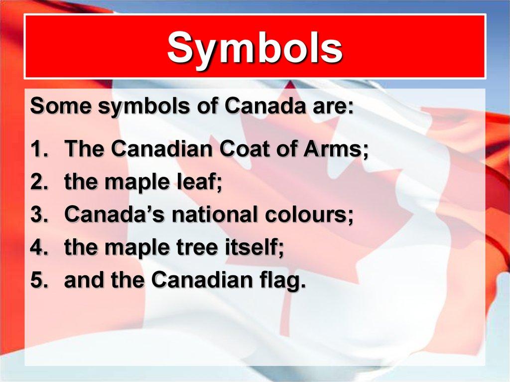 The Maple Leaf Symbol Of Canada Online Presentation