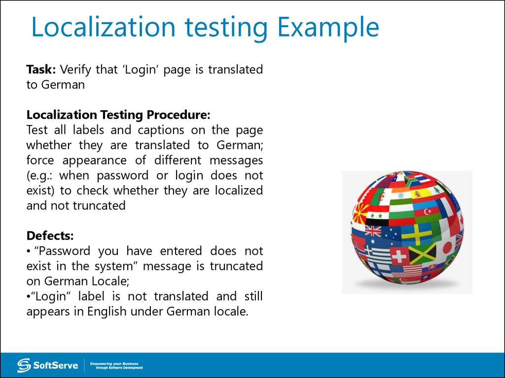 Localization testing Example