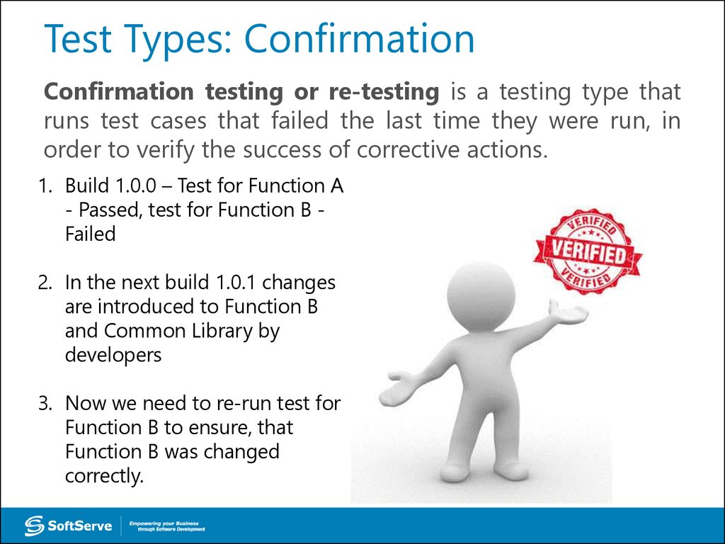 Test Types: Confirmation