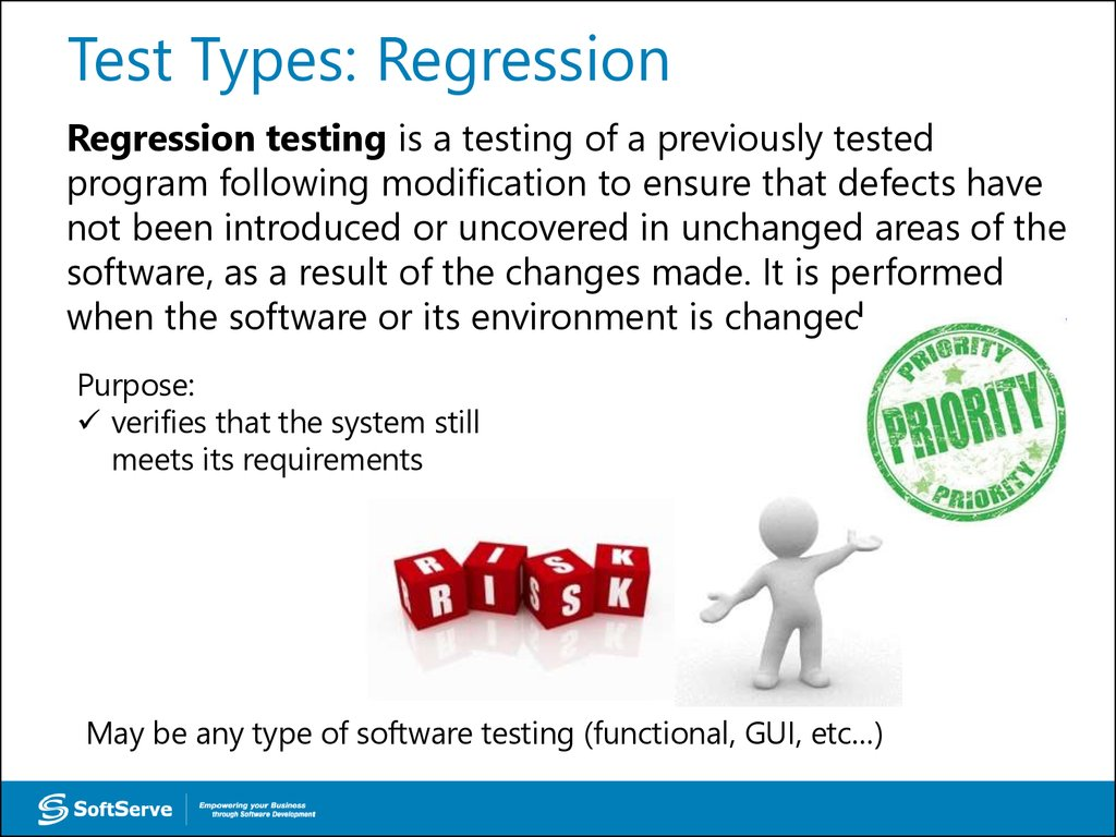 Test Types: Regression