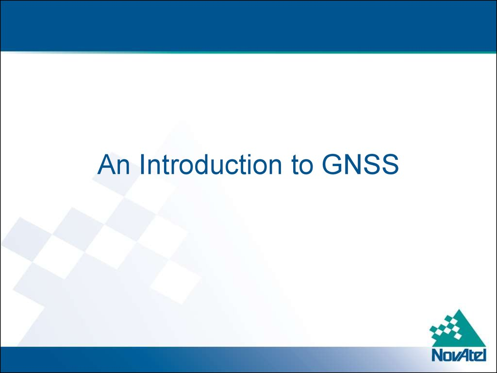 An Introduction to GNSS