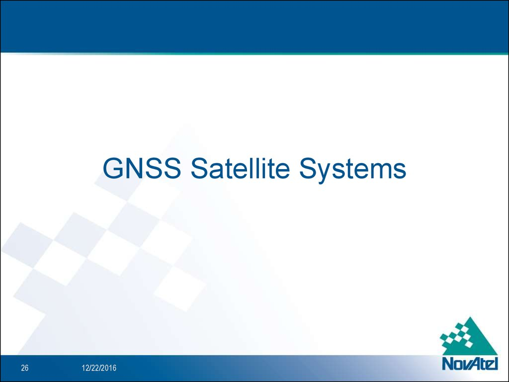 GNSS Satellite Systems