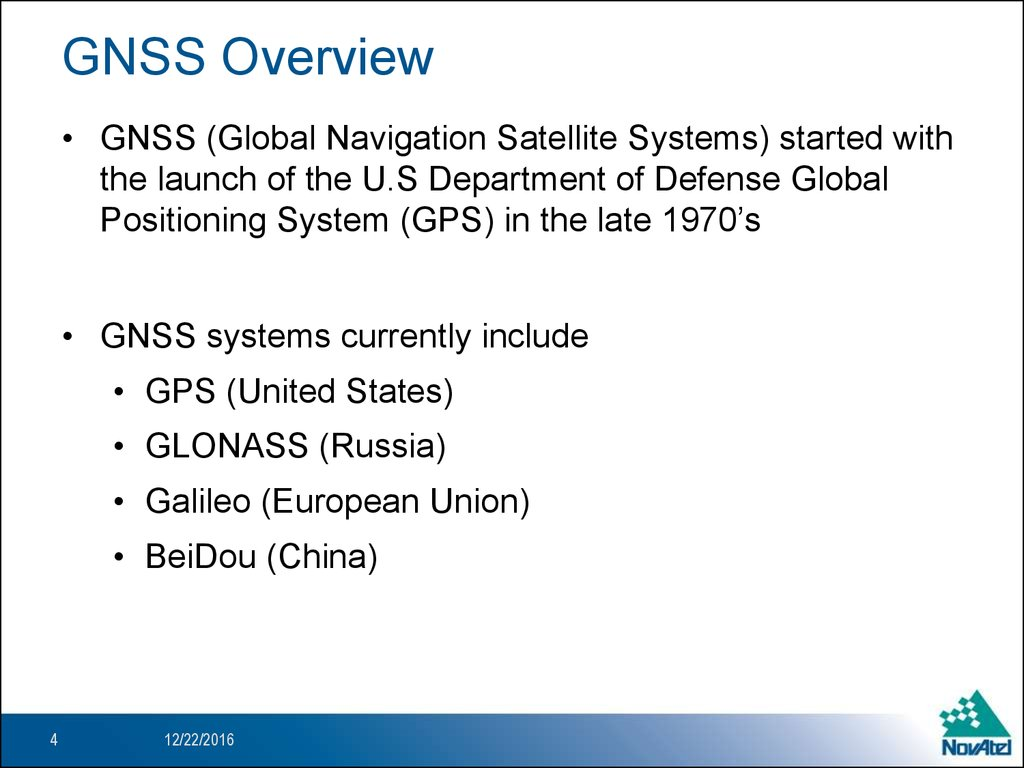 GNSS Overview