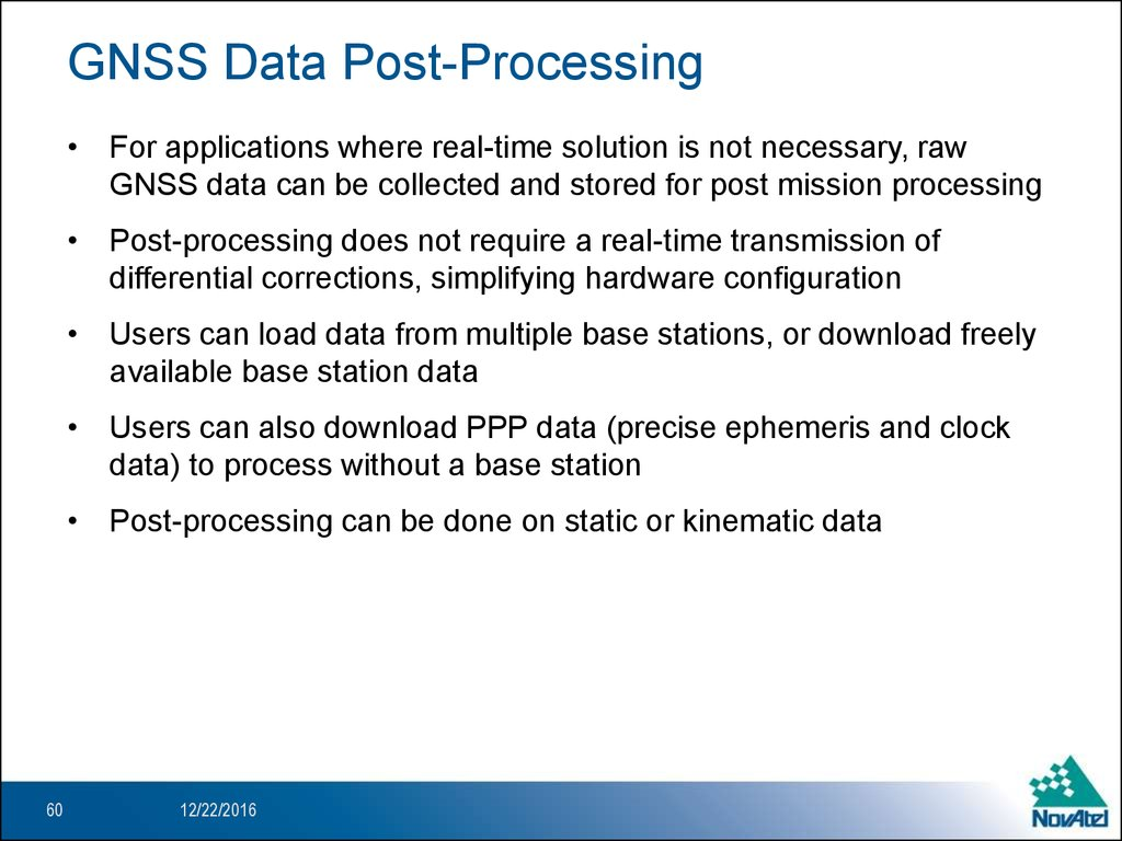 GNSS Data Post-Processing