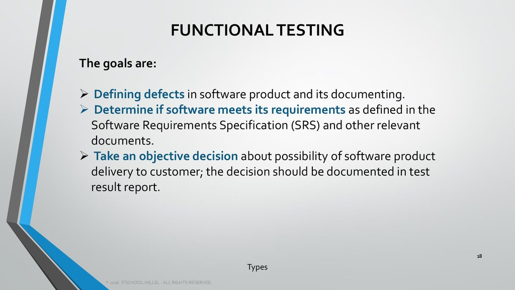types of software testing
