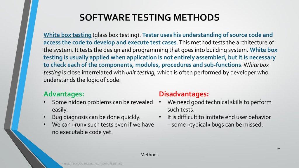 Software Testing Lesson 5 Online Presentation