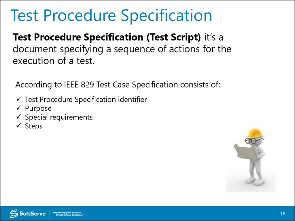 Test Procedure Specification