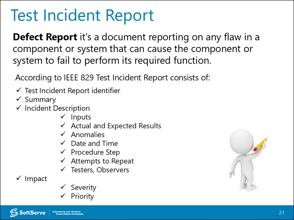 Test Incident Report