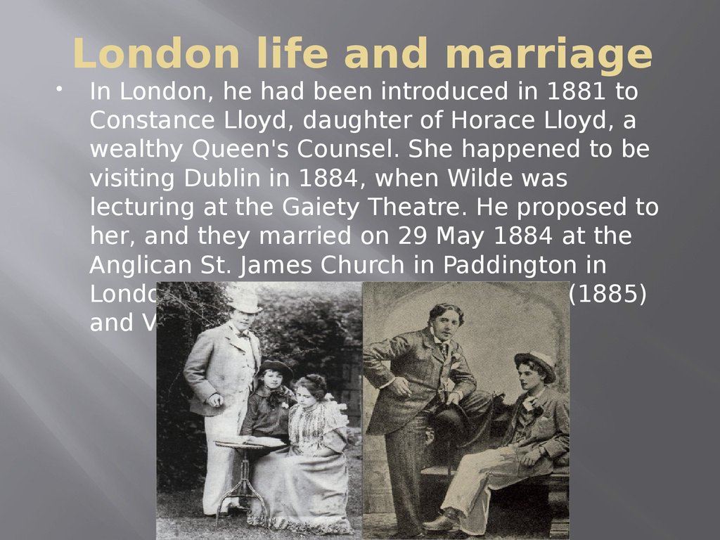 London life and marriage