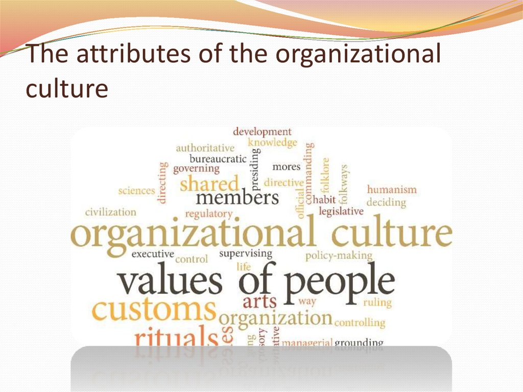 organization culture Organizational culture includes an organization's expectations, experiences, philosophy, and values that hold it together, and is expressed in its self-image, inner workings, interactions with the outside world, and future expectations.