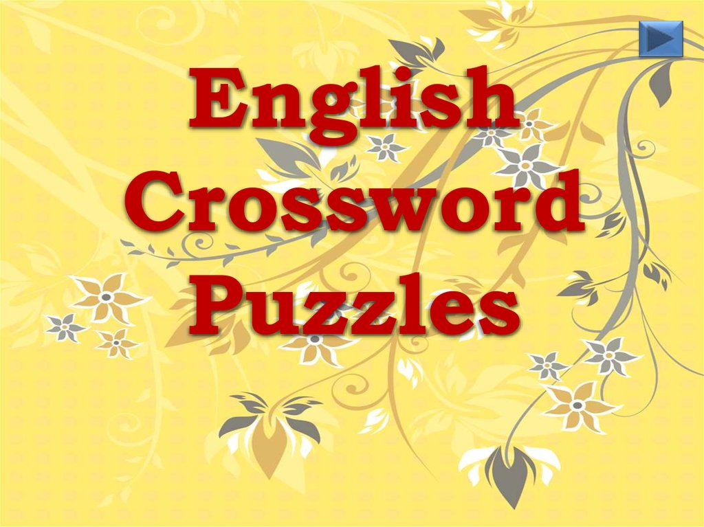 English Crossword Puzzles