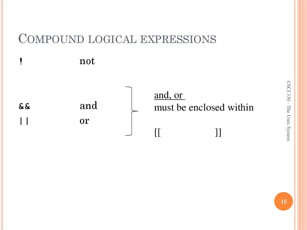 COMPOUND LOGICAL EXPRESSIONS