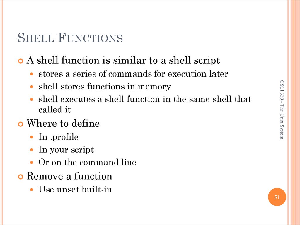 SHELL FUNCTIONS