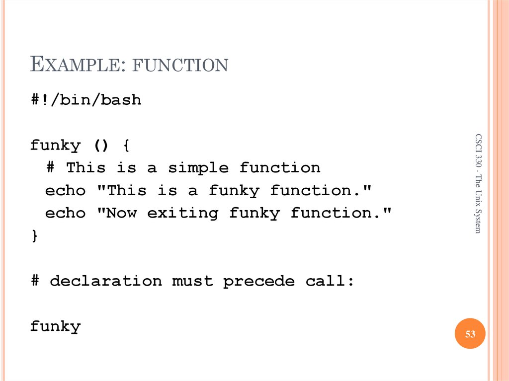 EXAMPLE: FUNCTION