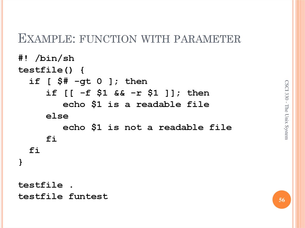 EXAMPLE: FUNCTION WITH PARAMETER