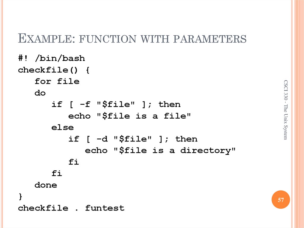 EXAMPLE: FUNCTION WITH PARAMETERS