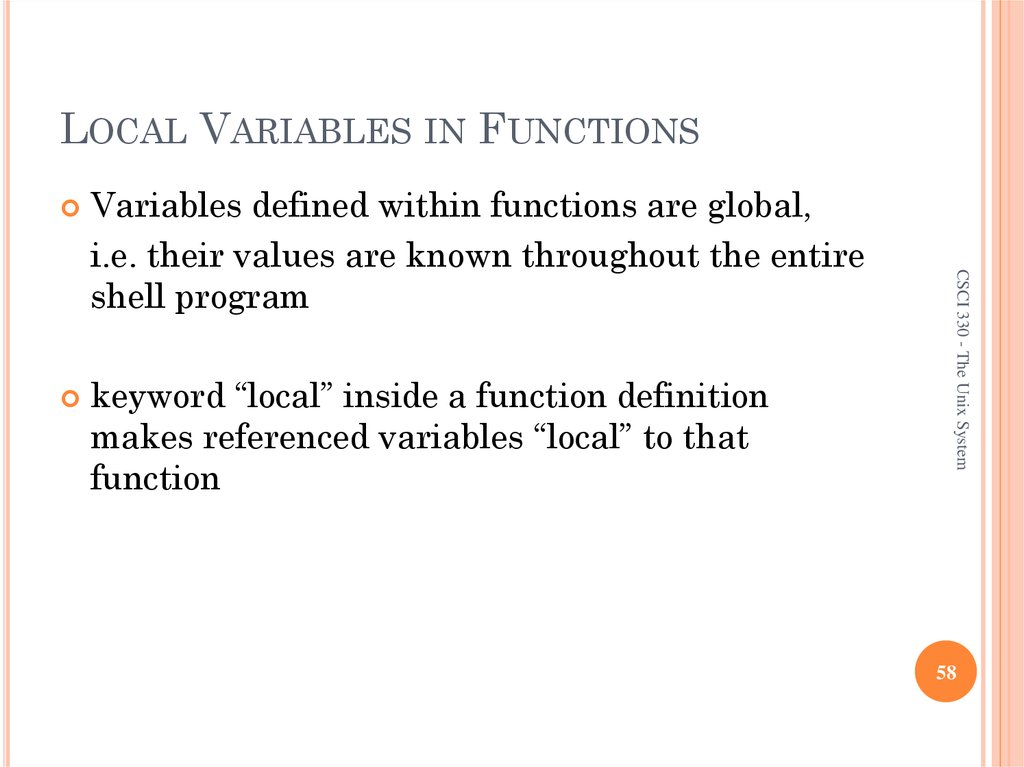LOCAL VARIABLES IN FUNCTIONS