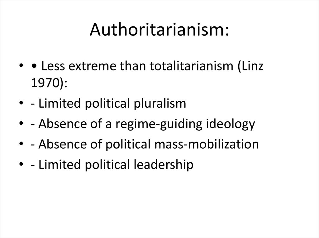 Authoritarianism: