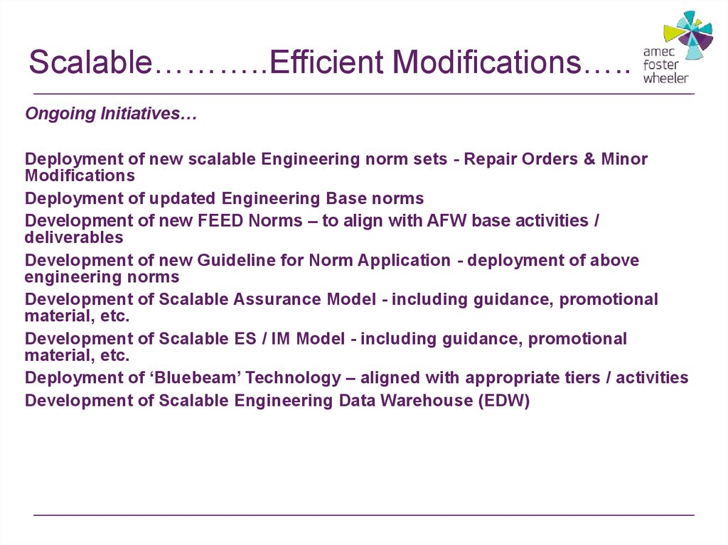 Scalable………..Efficient Modifications…..