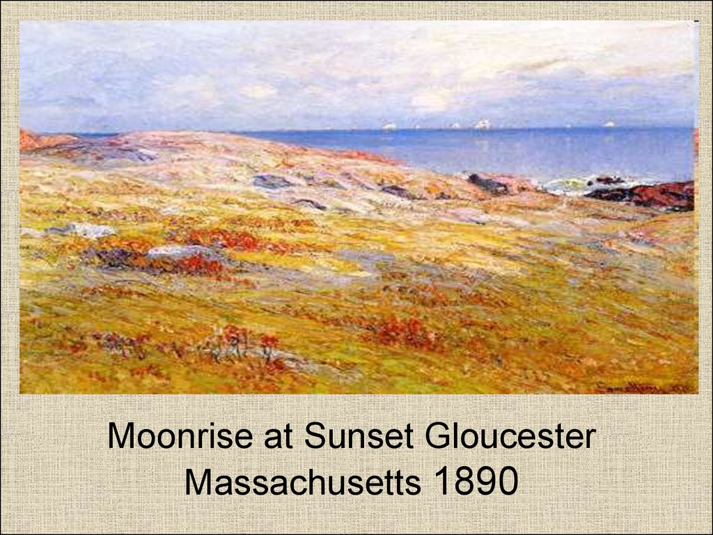 Moonrise at Sunset Gloucester Massachusetts 1890