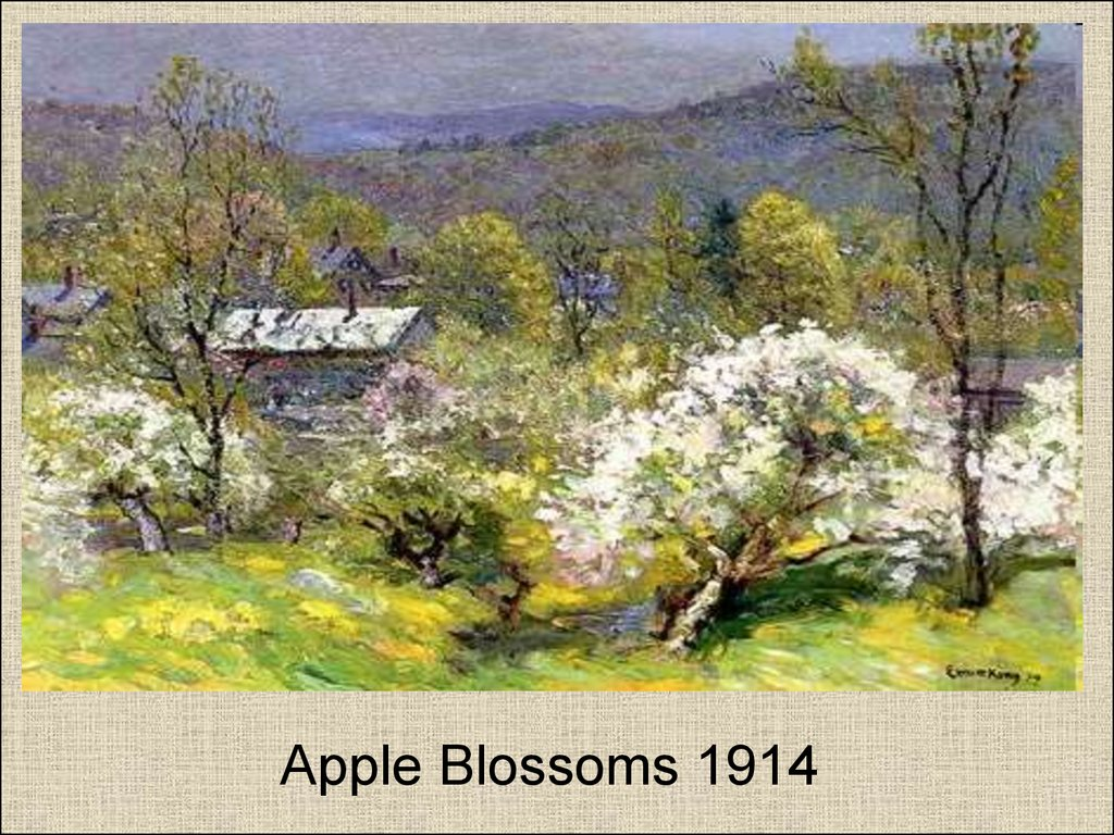 Apple Blossoms 1914