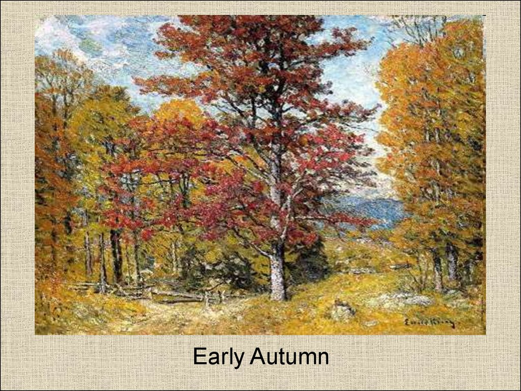 Early Autumn