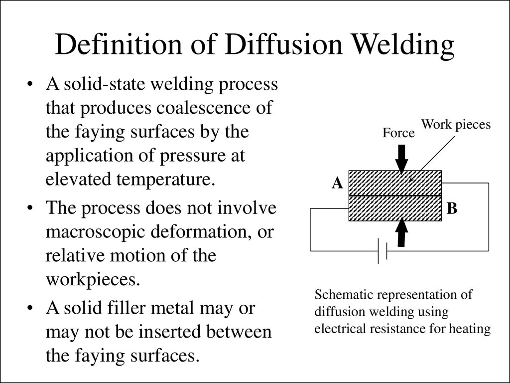 definition of diffusion welding