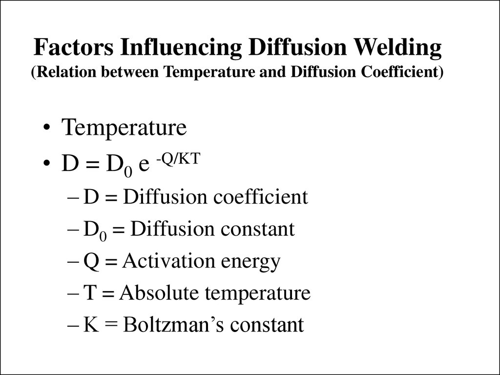 Diffusion Welding Diagram Factors Influencing Relation Between Temperature And Coefficient 1024x768