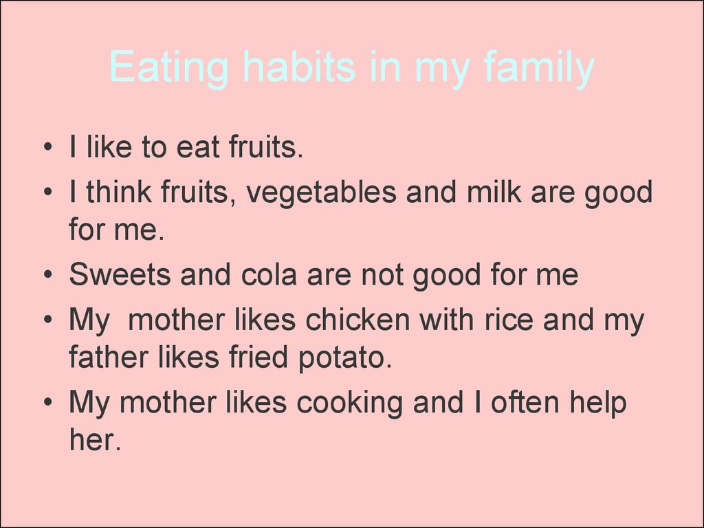 teenage eating habits essay Persuasive speech on healthy eating  sign up to view the whole essay and download the pdf for anytime access on your computer, tablet or smartphone.