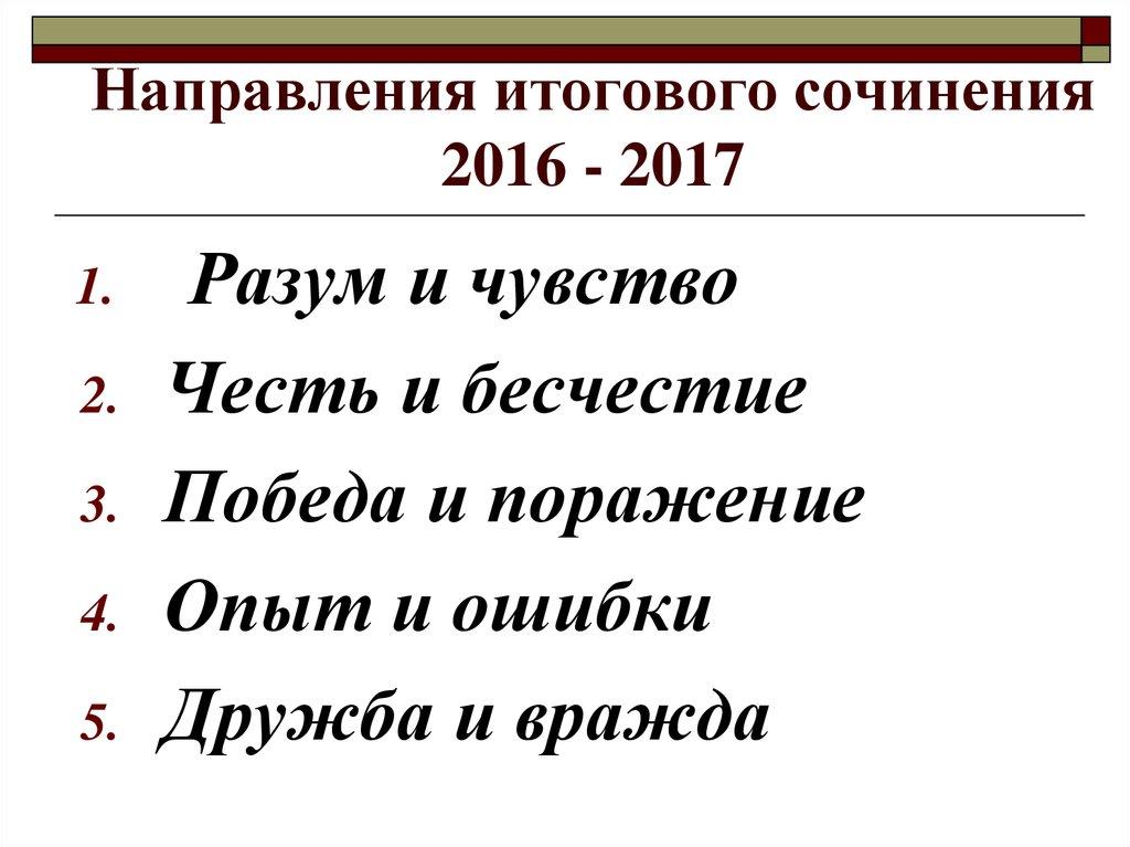 ужасы города, направления итогового сочинения 2016-2017 лица