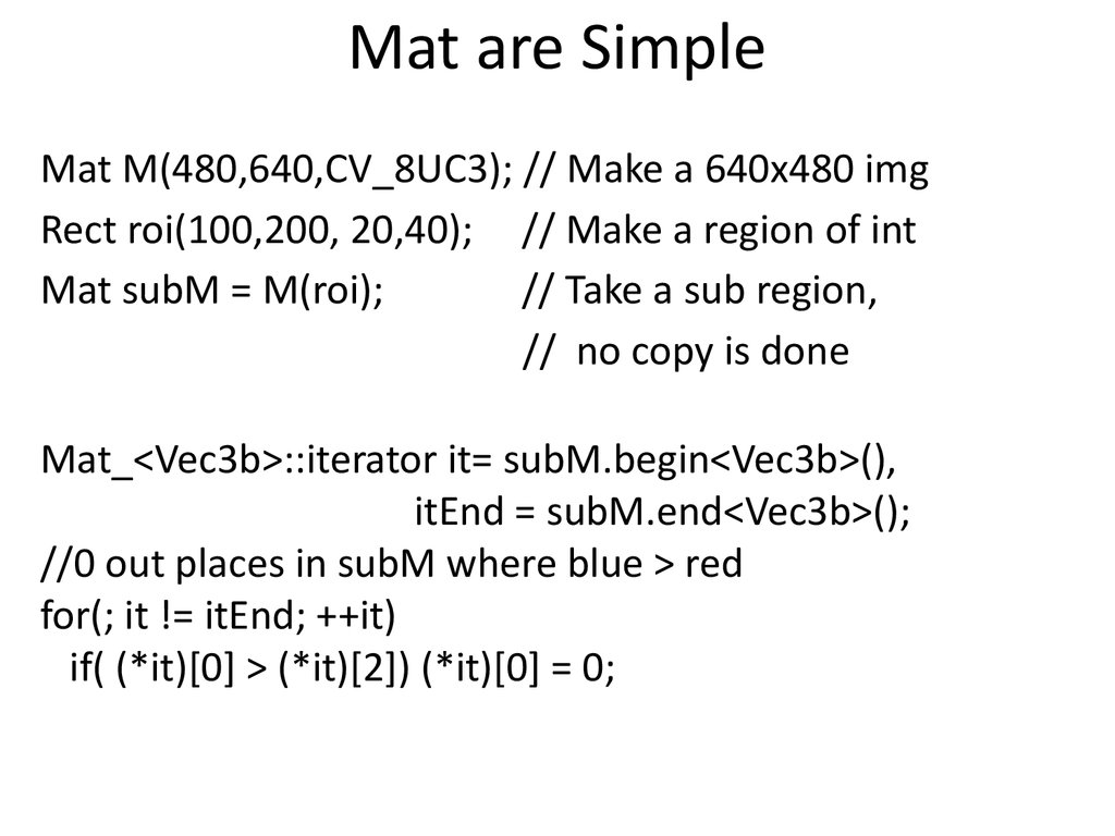 Mat are Simple
