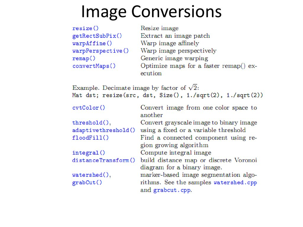 Image Conversions