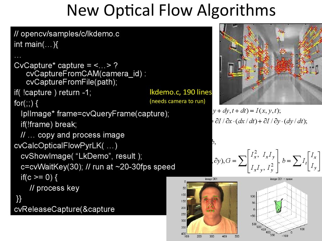 New Optical Flow Algorithms