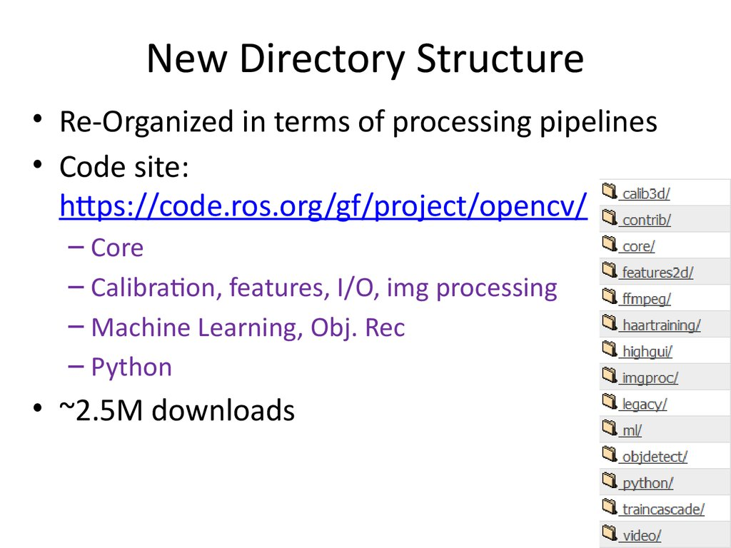 New Directory Structure